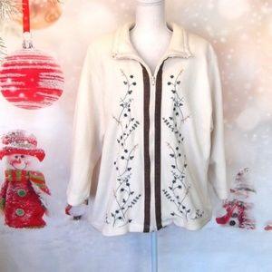 Teddi Fleece Zippered Jacket Size 1X